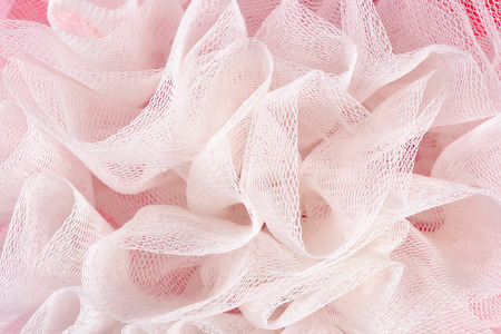 Crumpled tulle close up as background