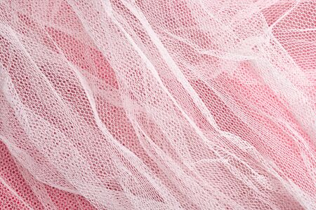 airy texture: Texture of white tulle close up Stock Photo