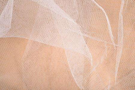 tulle: White tulle texture close up