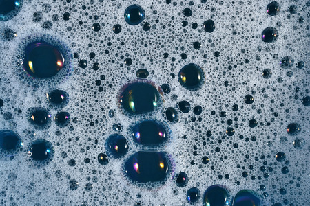 sudsy: Soapsuds bubbles as background texture Stock Photo