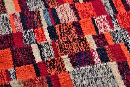 hand woven: Mano a righe tessuto nastri colorati per lo sfondo Archivio Fotografico