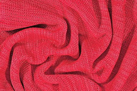 tricot: Pink crumpled stockinet as background
