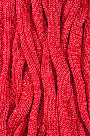 tricot: Pink stockinet ribbons as background