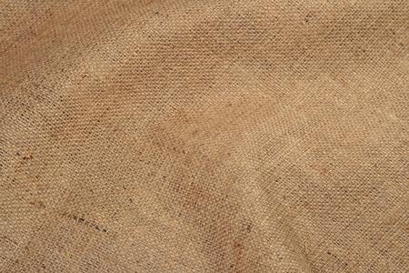 sacking: Crumpled rural brown sacking as background texture Stock Photo