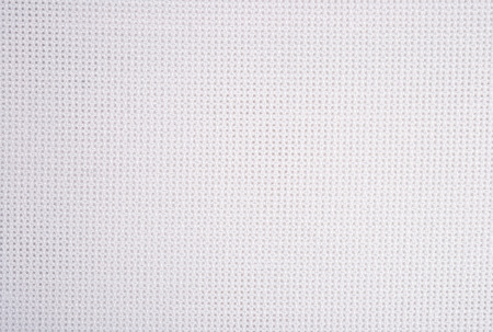 plain stitch: White cotton canvas for needlework as background texture