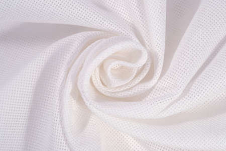 needlework: White crumpled cotton canvas for needlework as background texture