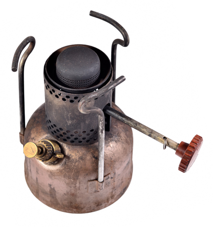 primus: Old camping stove isolated on a white background
