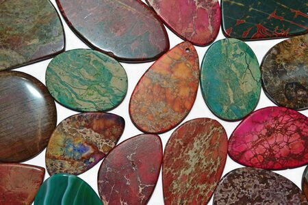 Colorful stones close up as background texture