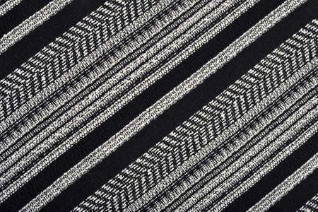 Black and white striped fabric as background texture