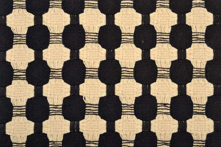 Fabric with a woven ornament as texture