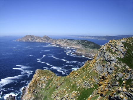 Natural Park Cies Islands in Galicia Spain