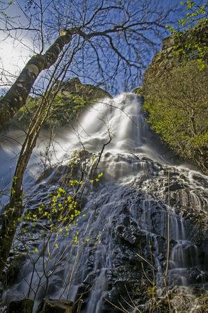 orense: Cidadelle water waterfall province of Orense in Galicia Spain