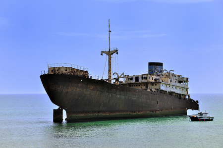 freighter: Timber freighter stranded in Lanzarote