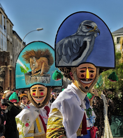 Carnival Verin in Galicia Spain one of the most ancient in the world Éditoriale