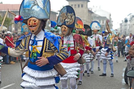 VERIN, ESPAGNE JANVIER 31 2016 Carnaval Verin en Galice en Espagne l'un des plus anciens dans le monde Banque d'images - 52785908