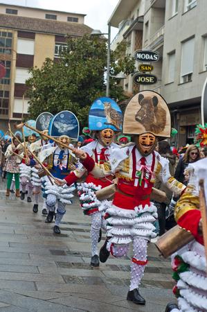 VERIN, ESPAGNE JANVIER 31 2016 Carnaval Verin en Galice en Espagne l'un des plus anciens dans le monde Banque d'images - 52785911