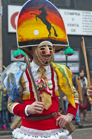 VERIN, SPAIN- JANUARY,31 , 2016   Carnival Verin in Galicia Spain one of the most ancient in the world