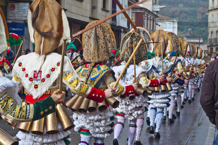 collide: Carnival Spain Galicia Verin in one of The most ancient in the world Editorial