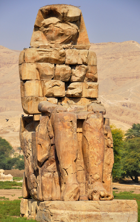 iii: Colossi of Memnon are two gigantic stone statues depicting Pharaoh Amenhotep III