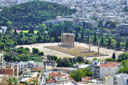 Temple of Zeus in Athens Greece built in honor of the god Zeus Olympus