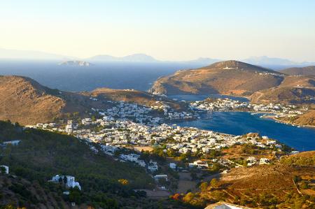 聖パウロが黙示録を書いた laisla ・ デ ・ パトモス島の景色 写真素材