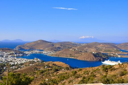 Views of laisla de patmos where St. Paul wrote the apocalypse