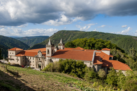 San Estebans monastery of ribas of sil placed in the cannon of the sil in galicia españa