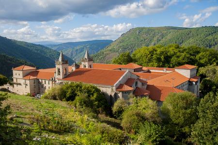 San Estebans monastery of ribas of sil placed in the cannon of the sil in galicia españa Stock Photo