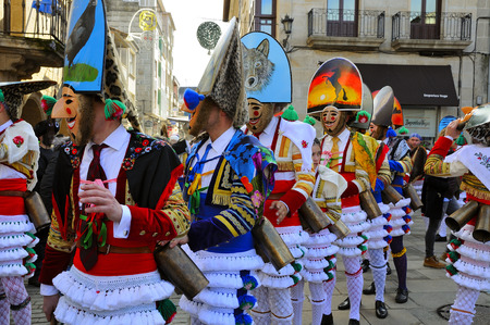 Verin-spain,4-February-2018    Carnival Verin in Galicia Spain one of the most ancient in the world