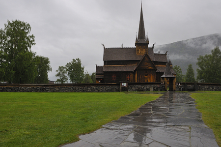 Borgund wooden church located in Norway were very common in northern Europe