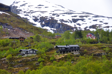 Views of the route of the famous Flam train in Norway