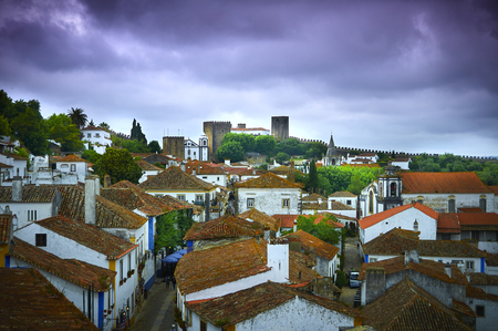 Obidos- Portugal, May 30, 2014, Obidos is a medieval town, one of the best preserved in Portugal Stock Photo