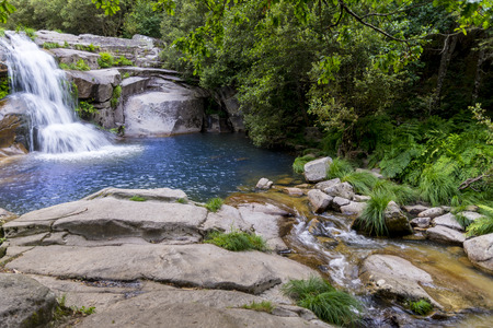 Melon pools are natural pools for swimming located in Orense melon Spain