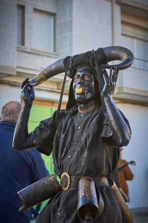 Viana do bolo-spain january.26-2019, Mascarada de viana do bolo in Spain where the annual costume meets the most ancestral costumes of the Galician carnival Spain and Portugal