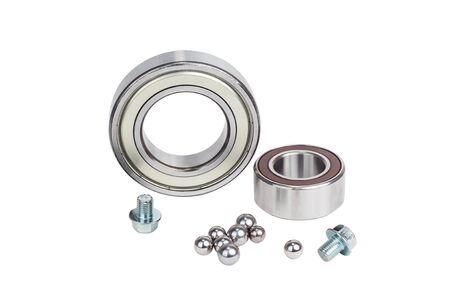 bearing: two bearing metal on a white background