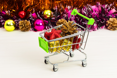 anniversary sale: New Year Trolley with Christmas toys, buy a gift for the New Year
