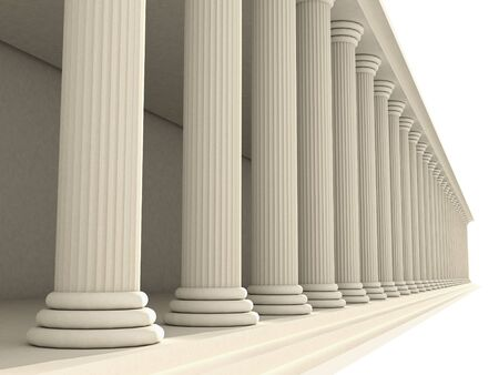 colonnade: columns  Stock Photo