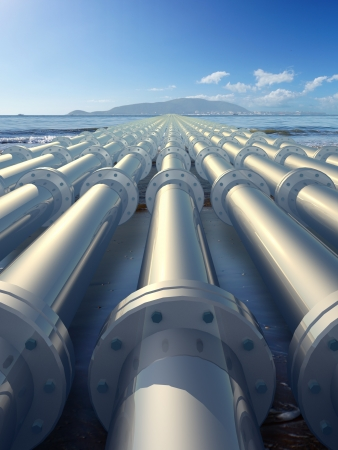 yacimiento petrolero: tuber�a Foto de archivo