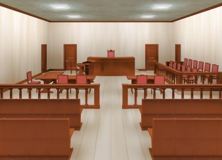 mandato judicial: sala de justicia