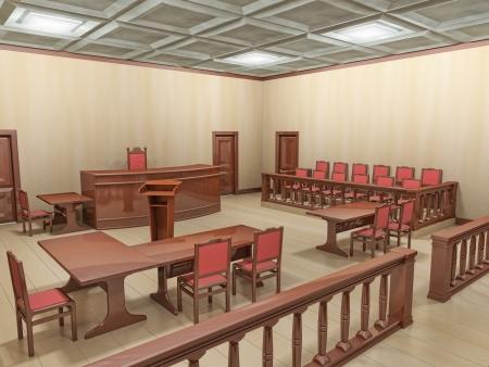 jurado: sala de justicia
