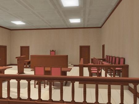 orden judicial: sala de justicia