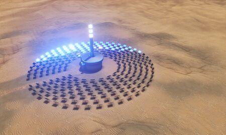 reflector: solar power plant