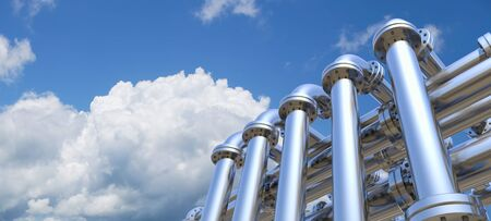 pipeline on a sky background photo