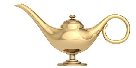 magic lamp on a white background photo