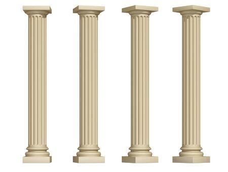 pillar: columns on a white background