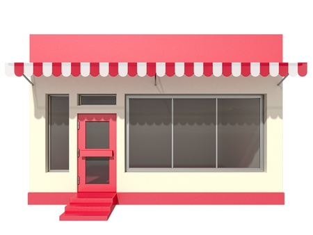 shop on a white background Stock Photo