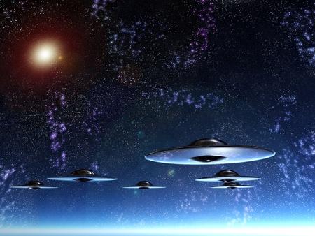 najechać: ufo