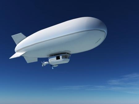 stratosphere: blimp Stock Photo