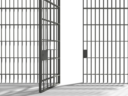 wall bars: prison Stock Photo