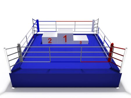 boxing ring: ring Stock Photo